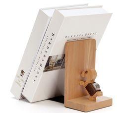 wooden bookend bookshelf book end decoration wooden Decorative Book Support Holder Desk Stands For Books