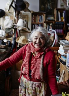 """I should be a lady at 87 but to hell with it! I want to have bad manners and bad habits, I don't want to grow up."" Mirka Mora // via The Design Files The Design Files, Design Blog, Advanced Style, Australian Artists, Artist At Work, Amazing Women, Beautiful People, Lady, Collection"