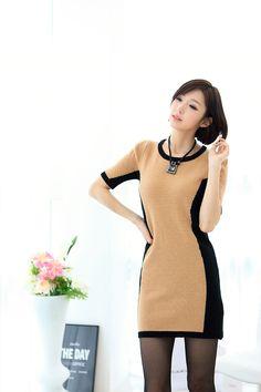 Coloration Sideline Knit Dress