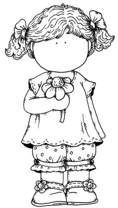 Kız boyama sayfası, girls coloring pages, chicas para colorear, девушки раскраски. Coloring Book Pages, Coloring Sheets, Embroidery Patterns, Hand Embroidery, Magnolias, Copics, Digital Stamps, Printable Coloring, Colorful Pictures