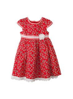 #DearPumpkinPatch Cutest little red dress, perfect for giving as christmas present to a young princess.