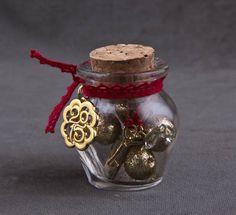 Γούρι μίνι μπουκαλάκι με φελλό NewMan | bombonieres.com.gr Christmas Crafts, Christmas Decorations, Xmas, Lucky Charm, Special Gifts, Favors, Charmed, Diy Crafts, Handmade