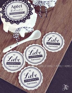 Food Packaging Design, Branding Design, Jam Wedding Favors, Free Printable Tags, Printing Labels, Free Prints, Canning Recipes, I Love Food, Personalized Gifts