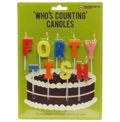 'Forty-ish' Birthday Candles