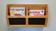 Reclaimed Pallet Wood Wall Pocket Organizer with by AJSCreationsCo