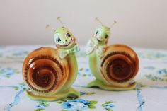 Love these guys, so stinking cute Snappy Snails salt and pepper set $45.00