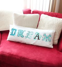 Tutorials | Urban Threads: Make this big and bold statement pillow with new letter embroidery designs