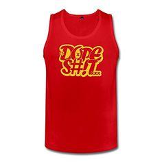 Buy this cool #Tanktop : Bingo Men's Dope St Cotton Tank Top Tshirt Red S. Visit micbear.com