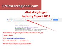 Qyresearch new published global hydrogen industry market research report 2015