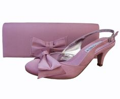 Twee Quartz Pink Sling Back Ladies Shoes. #PinkWeddingShoes