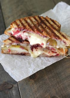 Caramelized Pear & Cranberry Panini -Baked in Arizona
