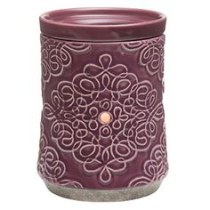 Sweet purple swirls, with enough personality to adorn a teen's room or colorful living space.