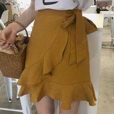 #AdoreWe #YesStyle Frontline Ruffle Mini Skirt - AdoreWe.com