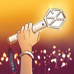 Lightstick Exo, Exo 12, Kpop Exo, Suho, Exo Sign, Exo Cartoon, Red Velvet Lightstick, L Wallpaper, Exo Anime