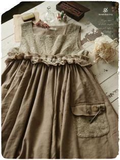 (Could be an idea example of a skirt attached to a yoke with a decorative trim to bridge the transition.)