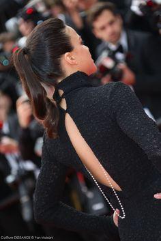 Michelle Rodriguez #dessange #cannes2015 #coiffeurofficiel Cannes Film Festival 2015, Cannes 2015, Star Francaise, Palais Des Festivals, Michelle Rodriguez, Hairdresser, Red Carpet, High Neck Dress, Dresses