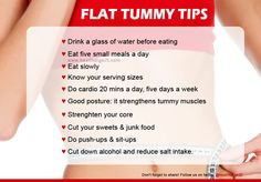 Flat tummy tips  #healthdigezt #health #diet #beauty #nutrition #exercise #food #new #homeremedies #wellness #fitness