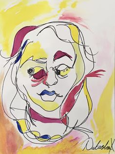 Doodlebug Dabblings: blind contour self portraits