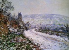 Entering the Village of Vetheuil in Winter - Claude Monet