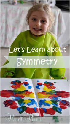 teaching kids about symmetry with a fun and easy paint project!