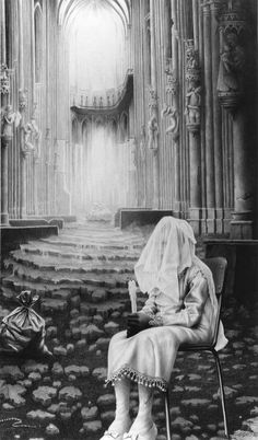 Drawing by Laurie Lipton. S)