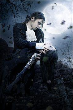 """Képtalálat a következőre: """"vampire couple"""" Vampire Kiss, Vampire Love, Gothic Vampire, Vampire Art, Dark Gothic, Vampire Pictures, Gothic Pictures, Gothic Images, Dark Images"""