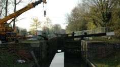 Staff at the Canal and River Trust have begun draining the lock at Tyle Mill near Aldermaston