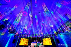 Seriously innovative. The dance floor was streamed with multi-colored slinky's and once the LED lights it lit the ballroom lit up.