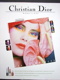 They did a great series of artistic ads like this one -- 1986 Christian DIOR Maquillage Makeup Eyeshadow WILD EYES vintage photo print Ad