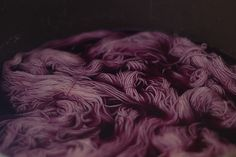 red cabbage dye turns into green when you add baking soda! gorgeous, muted colors.