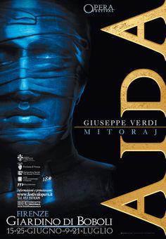 Emo Risaliti Lyric Opera Poster- Aida