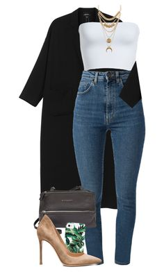 """""""There are many things that we would throw away if we were not afraid that others might pick them up."""" by quiche ❤ liked on Polyvore featuring Monki, Leith, Charlotte Russe, Yves Saint Laurent, Givenchy, Milly and Gianvito Rossi"""