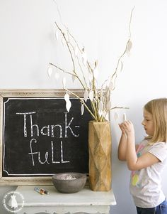 thankful tree - the handmade home