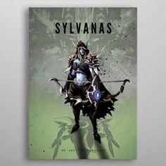 """Beautiful """"Sylvanas"""" metal poster created by Rykker Our Displate metal prints will make your walls awesome. Banshee Queen, Sylvanas Windrunner, Gaming Posters, Metallic Paint, Good Company, Trees To Plant, Digital Illustration, Cyber, The Darkest"""
