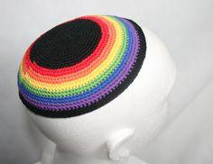 kippah rainbow on Etsy