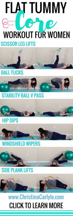 A lot of people think a toned, flat tummy requires a bajillon crunches… but that's so not the case. Crunches can actually wreck your spine....