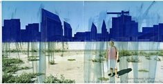 Beniamino Servino. Anonymous urban landscape with cathedrals. The city of illuminations off. [Based on a photo by Francesco Jodice]