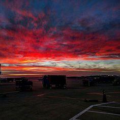 Another beautiful sunset at work tonight.