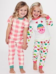 Ladybird Printed Girls Pyjamas (2 Pack)