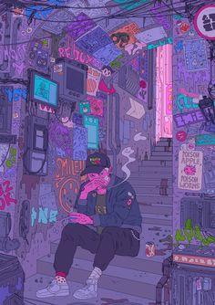 Illustrator Spotlight Alice Conisbee is part of drawings Doodles Cute Art Journals - A selection of work by illustrator Alice Conisbee More images below … Wallpaper Tumblr Lockscreen, Cartoon Wallpaper, Phone Wallpapers, Vape Wallpaper, Trippy Wallpaper, Music Wallpaper, Psychedelic Art, Aesthetic Art, Aesthetic Anime