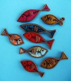 Cute fishies! Felt  crafts by Elisa Montoya