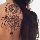 38 Trendy tattoo designs back henna - Tattoo Girls, Back Tattoo Women, Henna Tattoo Designs, Tattoo Designs For Women, Designs Mehndi, Mandala Tattoo Back, Henna Mandala, Mandala Tattoo Design, Henna Art