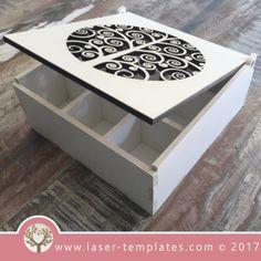 Personnalisé Keepsake Box Antique en Bois Coeur Crate Vintage Gravé Memory Box