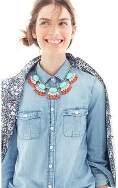 Layering and a statement necklace