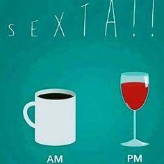 Sobre hoje.. ms ainda estou no pretinho, hehe.. ☕💛🍷#sexta #café #vinho
