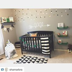 Love the look of this totally on-trend tribal theme nursery, including our gray…