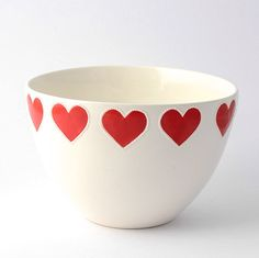 Lee bowl - heart red – Sourced