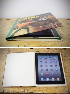 iPad cover from a recycled book