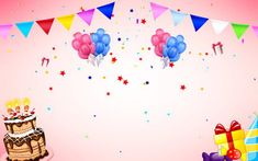 Playful And Colorful Balloons Blue Sky Background Happy Birthday Blue, Happy Birthday Posters, Birthday Cheers, Colorful Birthday, Happy Birthday Greeting Card, Happy Birthday Parties, Happy Birthday Balloon Banner, Balloon Cake, Christmas Greetings