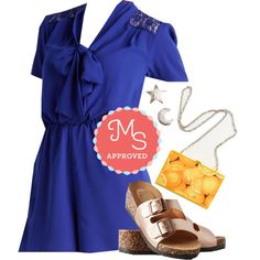 In this outfit: First Round Picnic Romper, Smart Twinklin' Earrings, And I'm Peelin' Good Bag, At Your Deck and Call Sandals #romper #spring #summer #cute #casual #latest #ModCloth #ModStylist #outfits #ootd #style